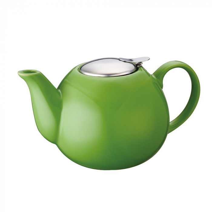 Ceainic ceramic cu sita 1.25 l, peterhof, verde foto mare