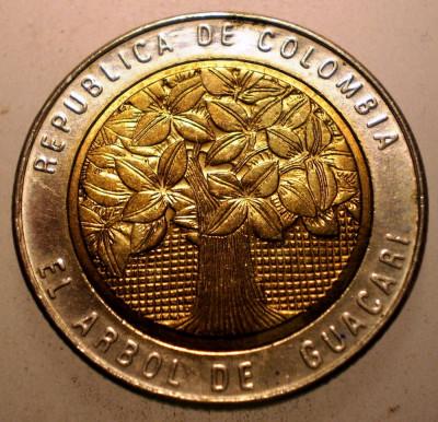 2.805 COLUMBIA 500 PESOS 2005 XF/AUNC BIMETAL foto