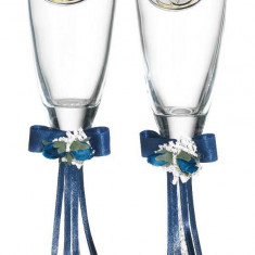 Set 2 pahare sampanie aniversare 50 ani casatorie Valenti, Cod Produs:2225 - Figurina/statueta