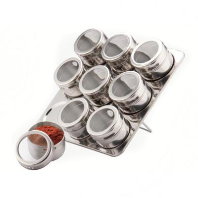 Set recipiente pentru condimente Peterhof, 10 piese, suport inox foto