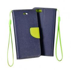 Husa iPhone 4 4S Flip Case Inchidere Magnetica Albastra - Husa Telefon Apple, Albastru, Piele Ecologica, Cu clapeta, Toc