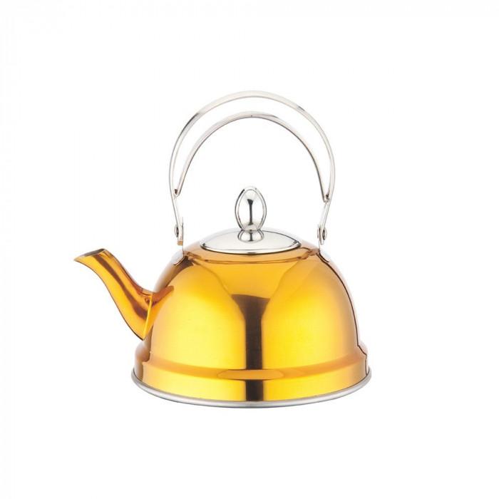 Ceainic inox cu sita 0.7 l, peterhof, galben foto mare
