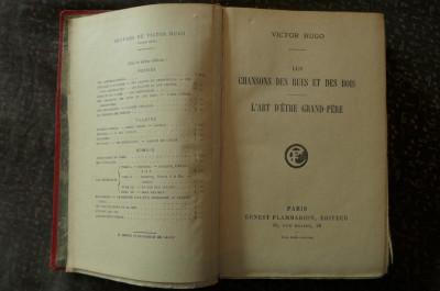 Les chansons des rues et des bois de Victor Hugo  Ed. Ernest Flammarion 1924 foto