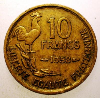 2.795 FRANTA 10 FRANCS FRANCI 1958 foto