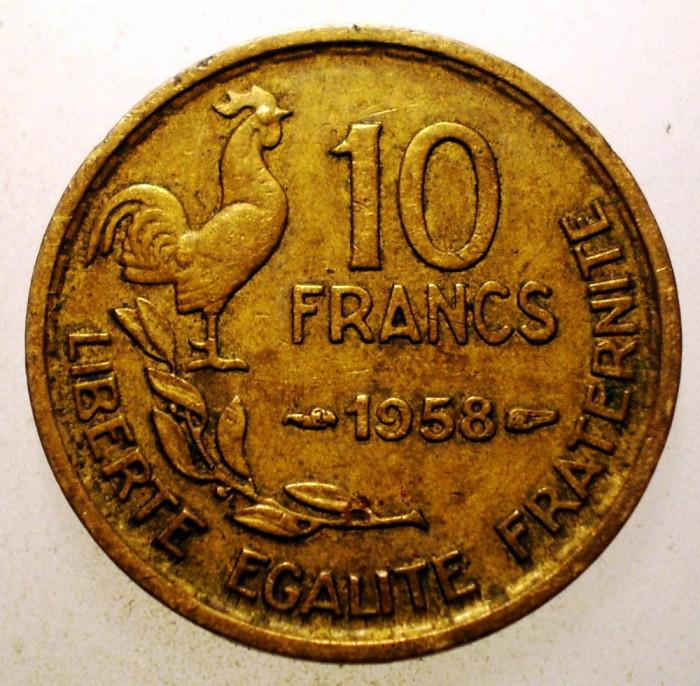 2.795 FRANTA 10 FRANCS FRANCI 1958 foto mare