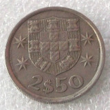 P2. PORTUGALIA 2, 5 2$5 ESCUDOS 1977 **, Europa