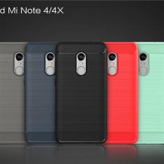 Bumper antișoc / Husa cu textura de carbon pt  Xiaomi Redmi Note 4 / 4X