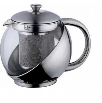 Ceainic sticla cu inox 1.1 l, renberg foto
