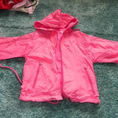 Geaca de ploaie, geaca impermeabila, 98-116 cm, 5-7 ani, captusita, cu gluga, Marime: S/M, Culoare: Roz, Fete