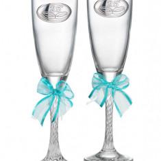 Set 2 pahare sampanie aniversare 25 ani casatorie Valenti. Produs in Italia, Cod Produs:2218 - Figurina/statueta