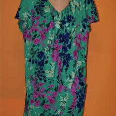 Rochie vintage multicolora din matase hand made - Rochie de zi, Marime: L/XL, Culoare: Din imagine