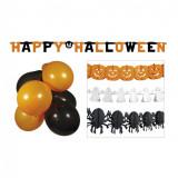 Set decoratiuni Halloween baloane si ghirlande - Carnaval24