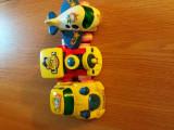 Set 3 jucarii masinuta, locomotiva, avion, 2-4 ani, Plastic