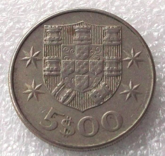 P2. PORTUGALIA 5 ESCUDOS 1977 ** foto mare