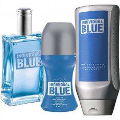 Apa de toaleta 100ml Individual Blue AVON+ deodorant roll on+gel de dus - Set parfum