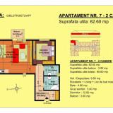 Apartament 3 camere, str.13 Decembrie, pret 47700, 62.6 mp - Apartament de vanzare, 63 mp, Numar camere: 3, An constructie: 2018, Etajul 2
