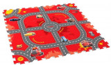Covor Puzzle Din Spuma Cars 3 Modular Race 9 Piese, Knorrtoys