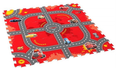 Covor Puzzle Din Spuma Cars 3 Modular Race 9 Piese foto