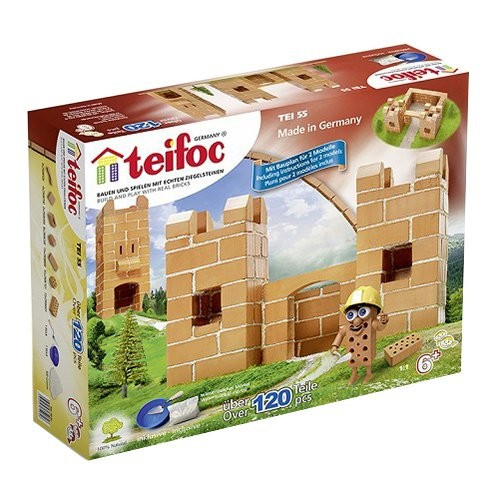 Set De Constructie Din Caramizi - Castel Mic (120 Piese) -Teifoc foto mare