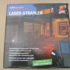Laser solar shower EASYmaxx negru de exterior - Corp de iluminat, Proiectoare