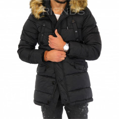 Geaca barbati iarna neagra - geaca groasa - COLECTIE NOUA 9349 M6, Marime: S, M, L, XL, XXL, Culoare: Din imagine