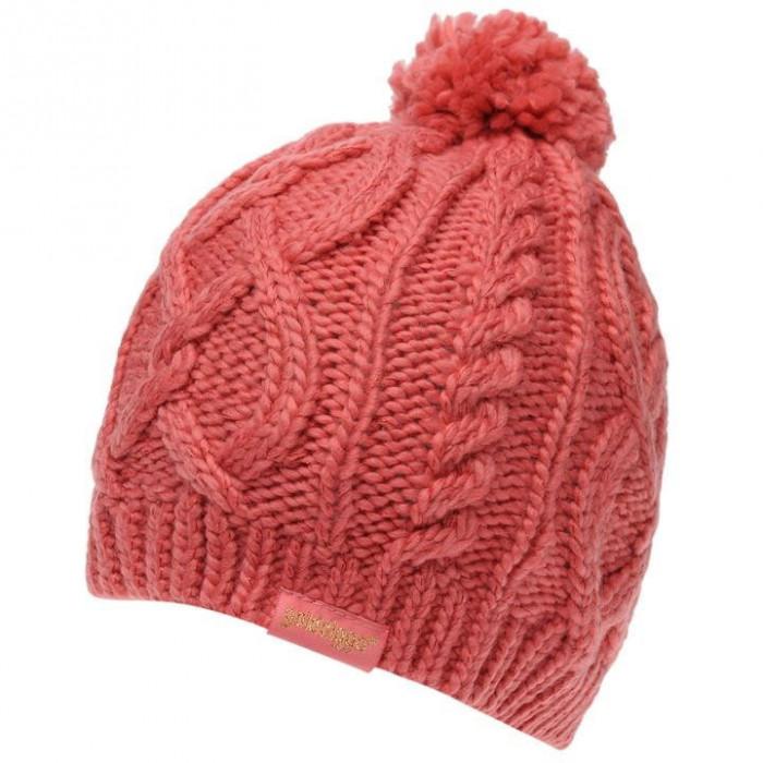 Oferta! Caciula dama Golddigga Cable Pink iarna calduroasa  - originala foto mare
