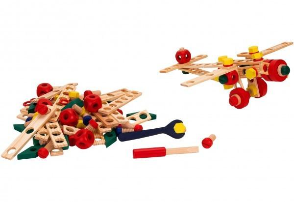 Joc Educativ De Construit Globo Legnoland Mechanik 37440 130 Piese Multicolore foto mare