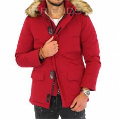Geaca barbati iarna rosie - geaca groasa - COLECTIE NOUA 9342K4, Marime: S, L, XXL, Culoare: Din imagine