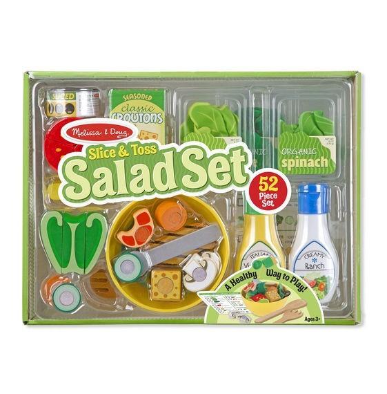 Set De Joaca Din Lemn Salate Delicioase Melissa And Doug foto mare