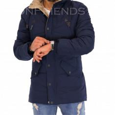 Geaca barbati iarna bleumarin - 9337 N6, Marime: S, M, L, XL, XXL, Culoare: Nocciola, Din imagine