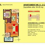 Apartament 2 camere, str.13 Decembrie, pret 41587.5euro, 54.45 mp - Apartament de vanzare, Numar camere: 2, An constructie: 2018, Etajul 2