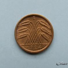 GERMANIA - 5 Reichspfennig 1924 E, Europa, Bronz-Aluminiu