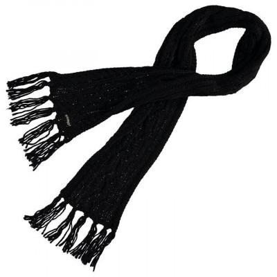 Oferta! Fular dama Golddigga Cable Scarf Black de iarna - original foto