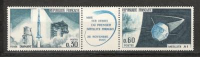Franta.1965 Lansarea satelitului de telecomunicatii-streif  SF.126 foto