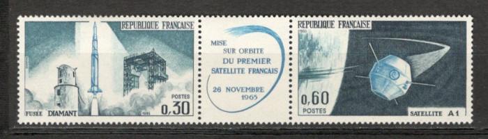 Franta.1965 Lansarea satelitului de telecomunicatii-streif  SF.126 foto mare