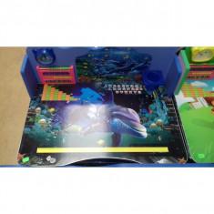 Birou Educativ pentru copii culore Albastru cu Delfin - Masuta/scaun copii