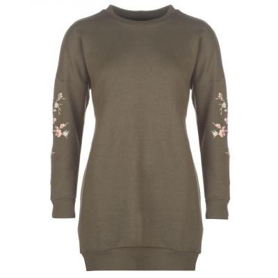 Oferta! Bluza Pulover Dama model lung Golddigga Puff Kaki - original foto