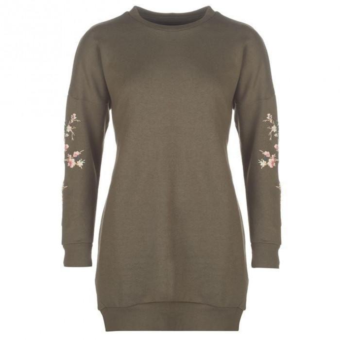 Oferta! Bluza Pulover Dama model lung Golddigga Puff Kaki - original foto mare