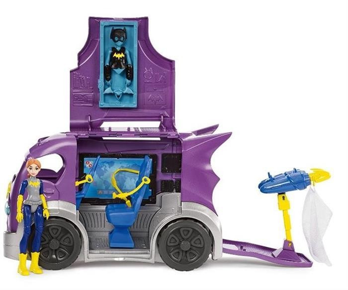 Jucarie Dc Super Hero Girls Batgirl Headquarters On Wheels foto mare