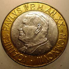 A.225 VATICAN PAPA IOAN PAUL II 1000 LIRE 1998 BIMETAL, Europa