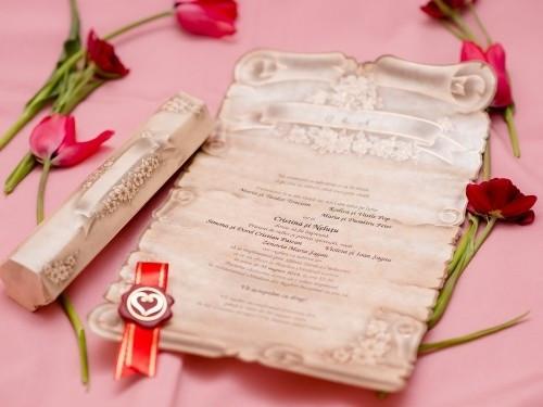 Invitatie nunta Papirus 5301 5301 foto mare
