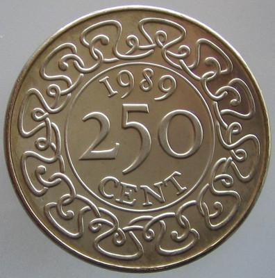 SURINAM KM#24 - 250 Cent 1989 UNC foto