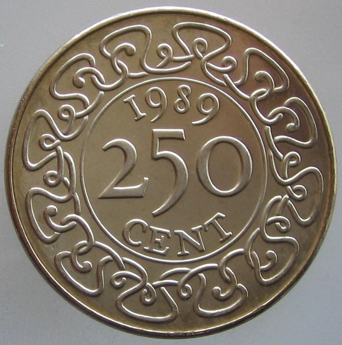 SURINAM KM#24 - 250 Cent 1989 UNC foto mare