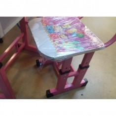 Birou Educativ pentru copii culore Roz - Masuta/scaun copii
