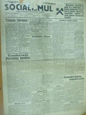Socialismul 17 ianuarie 1928 conferinta partidului Ghelerter Voitec Popovici foto