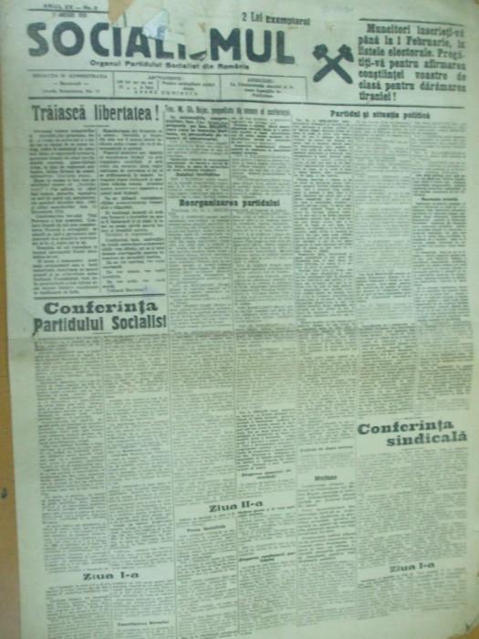 Socialismul 17 ianuarie 1928 conferinta partidului Ghelerter Voitec Popovici foto mare