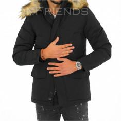 Geaca barbati iarna neagra - geaca groasa - COLECTIE NOUA 9343 L1, Marime: S, XL, XXL, Culoare: Din imagine