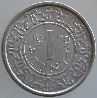 SURINAM KM#11a - 1 Cent 1979 UNC foto