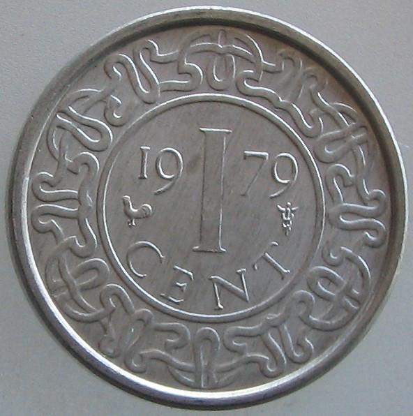 SURINAM KM#11a - 1 Cent 1979 UNC foto mare