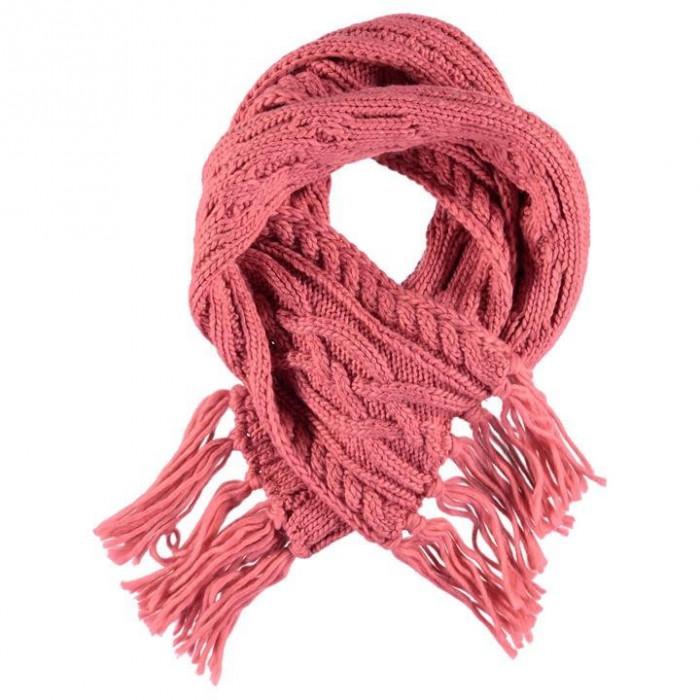 Oferta! Fular dama Golddigga Cable Scarf Pink de iarna - original foto mare